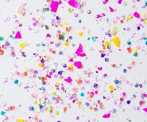 wallpaper, background, and confetti image