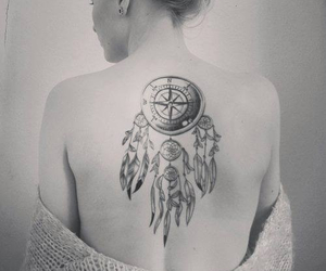 back, dreamcatcher, and ink image