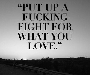 love, fight, and quotes image