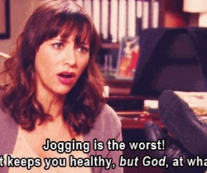 jogging, quotes, and parks and recreation image