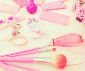 pink, case, and makeup image