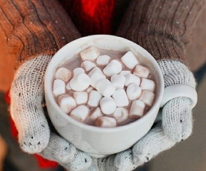 winter, marshmallow, and hot chocolate image