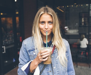 fashion, blonde, and coffee image