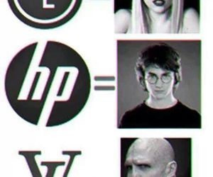 harry potter, Lady gaga, and funny image