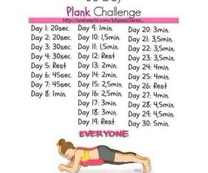 plank, workout, and fit image