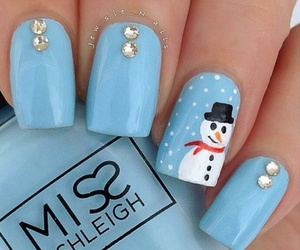nails, snowman, and blue image