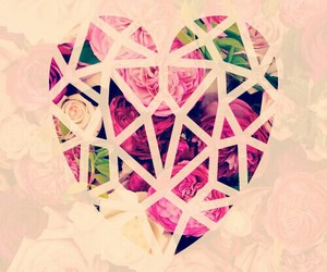 heart, wallpaper, and flowers image