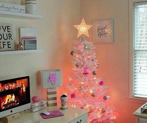 christmas, room, and pink image