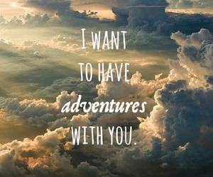 adventure, clouds, and love image