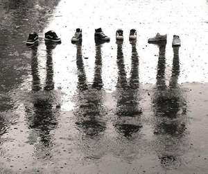 shoes, rain, and shadow image