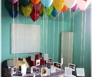 balons, pictures, and surprise image