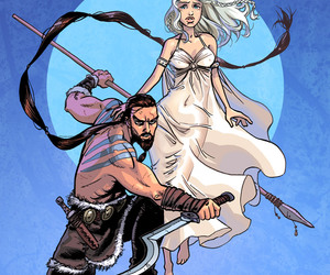drogo, game of thrones, and daenerys image