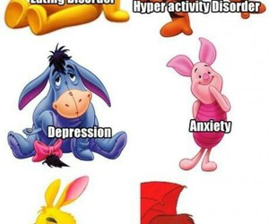 funny, winnie the pooh, and disorder image