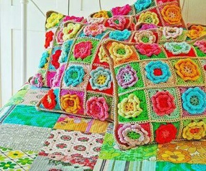 crochet and flowers image