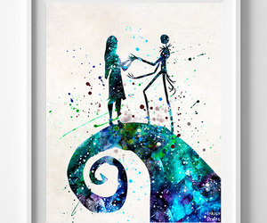 etsy, jack and sally, and nightmare before christmas image