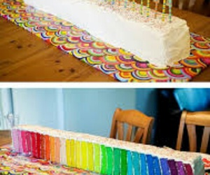 cake, rainbow, and colors image