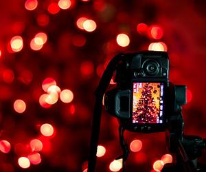 christmas, light, and camera image