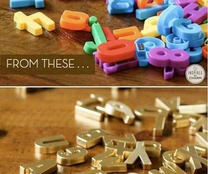 diy, gold, and letters image