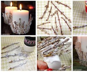 candles, christmas, and diy image