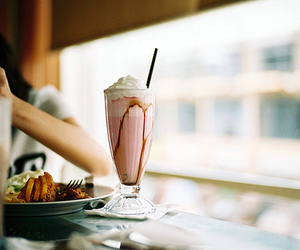 food, milkshake, and vintage image