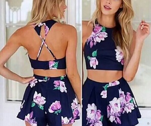 flowers, outfit, and summer image