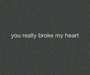 broken, heart, and love image