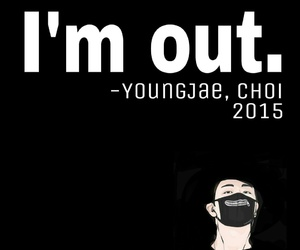black, kpop, and choi youngjae image