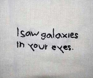 galaxy, love, and eyes image