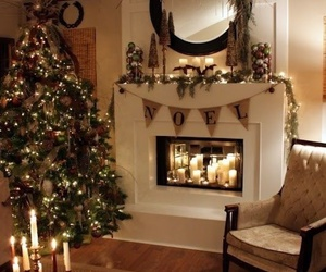 christmas, house, and candles image