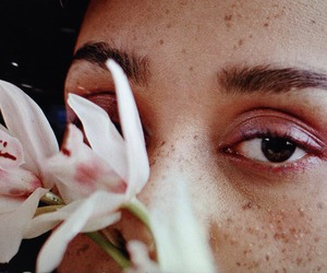 eyes, freckles, and model image
