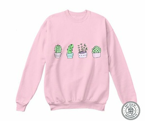 pink, plants, and sweater image
