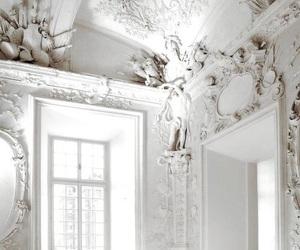 white, architecture, and interior image