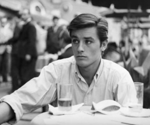 boy, Alain Delon, and black and white image