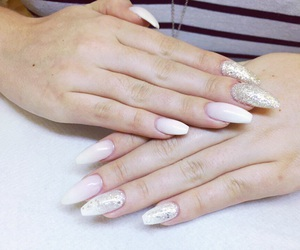 fade, glitter, and nails image