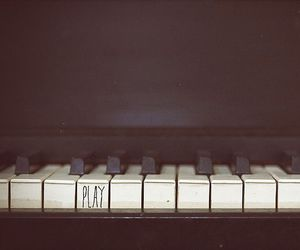 piano, play, and music image