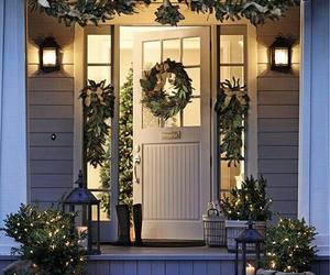 christmas, winter, and door image