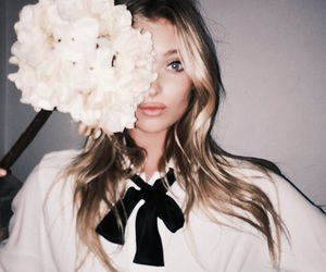 elsa hosk, flowers, and model image