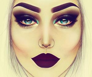 makeup, art, and drawing image