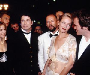 John Travolta, quentin tarantino, and uma thurman image