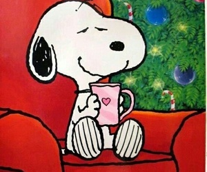 christmas, snoopy, and winter image