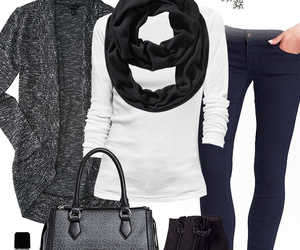 black, fashion, and cardigan image