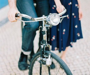 bicycle, couple, and vintage image