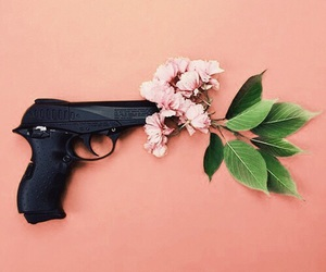 guns and roses, 'flowers', and 'black' image