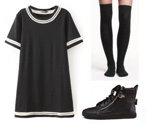 creepers, school outfit, and calcetas image