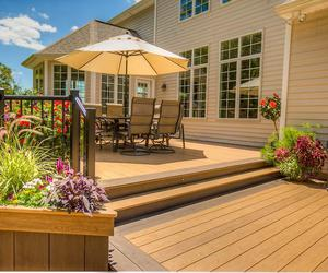 cost to build a house, cost to build a deck, and cost to build image