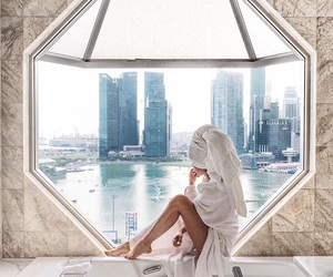 girl, luxury, and view image