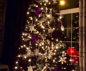 black, christmas season, and black christmas tree image