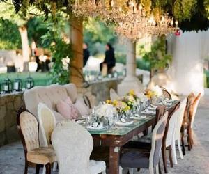 table, wedding, and luxury image