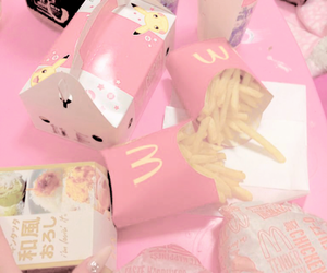 pink, food, and McDonalds image