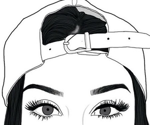 outline, eyes, and tumblr image